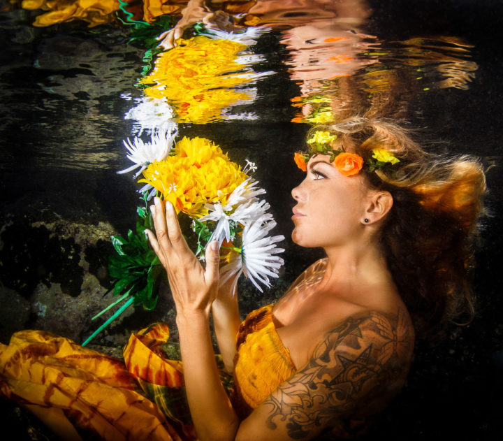 Подводна фотография с модели